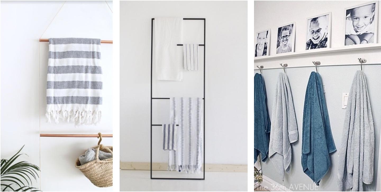 Les serviettes dans une salle de bain